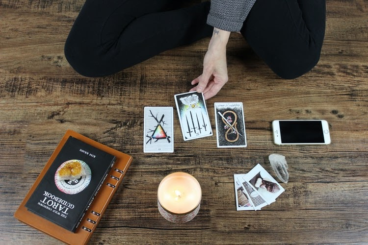 Tarot Card Reading in Proress